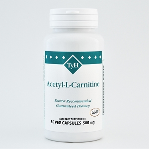 Acetyl L-Carnitine 500 mg 50 Veg Capsules