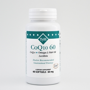 CoQ10 60 mg (CoQ10, Omega-3 Fish Oil) 60 Softgels