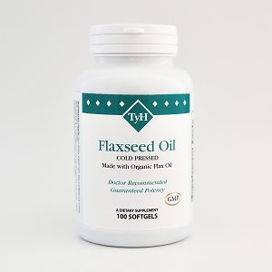 Flaxseed Oil Organic Cold-Pressed 1000 mg 100 Softgels