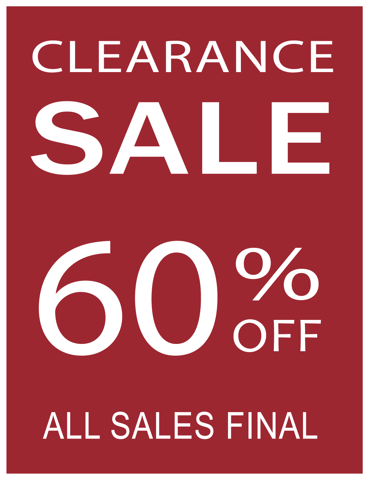 Sale 60% off Sign