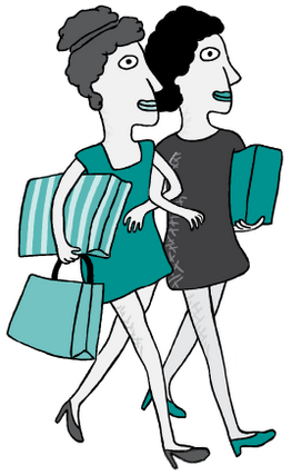 Ladies with Shoping Bags