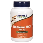 Betaine HCl  648 mg & 150 mg Pepsin 120 Capsules