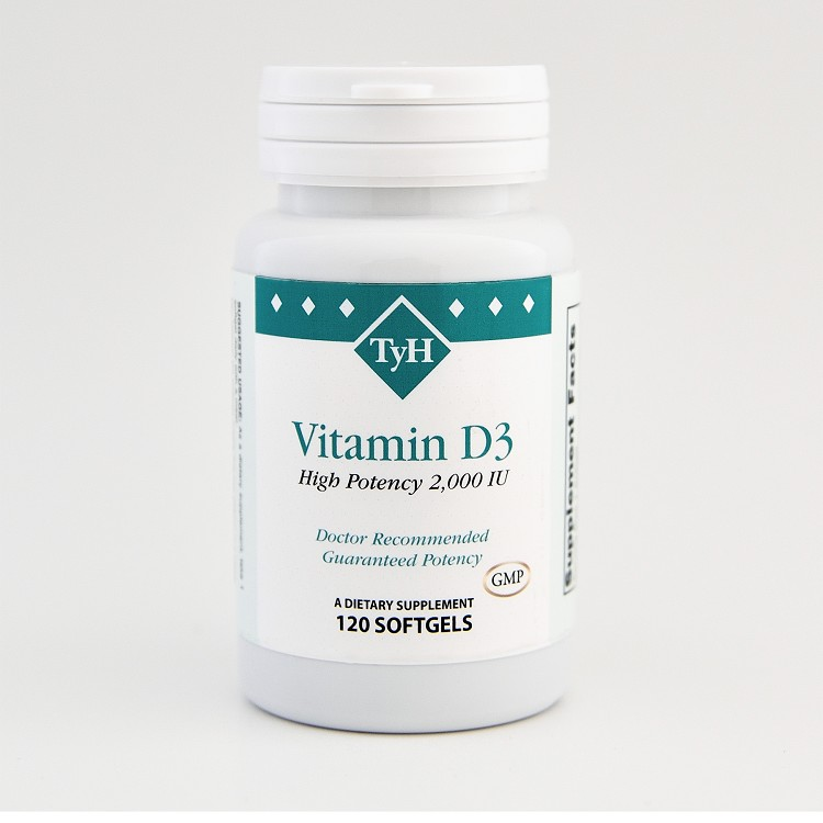 Vitamin D3 2000 IU 120 Softgels