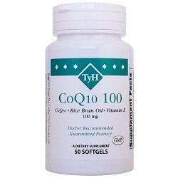 CoQ10 100 mg (Sunflower Lecithin & Olive Oil) 50 Softgels
